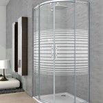 Mampara ducha curva en aluminio