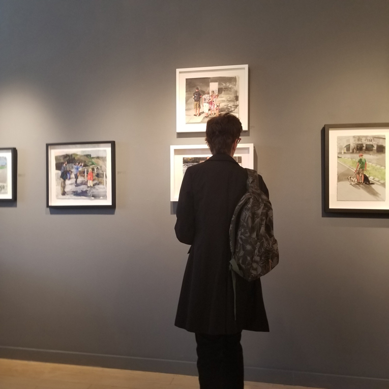 Contemporary art, collage, works on paper, Vancouver, art gallery, Elissa Cristall Gallery