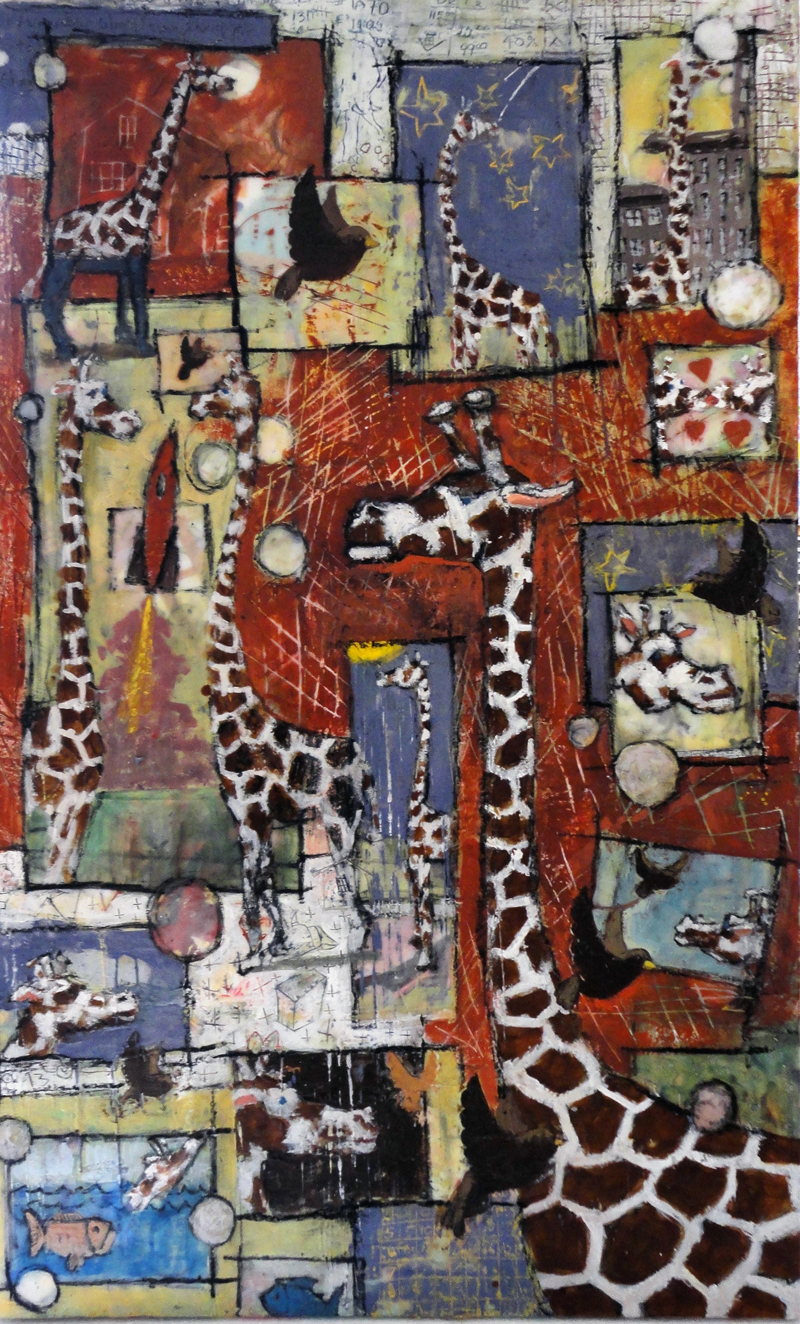 Bruce Turnbull, encaustic painting, outsider art, art exhibition, contemporary art, Vancouver, art gallery, Elissa Cristall Gallery