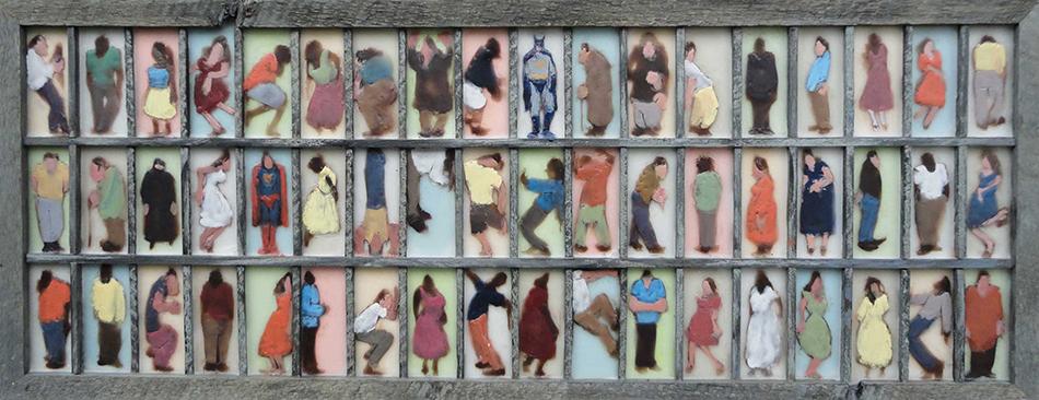 Bruce Turnbull, People, encaustic figurative painting