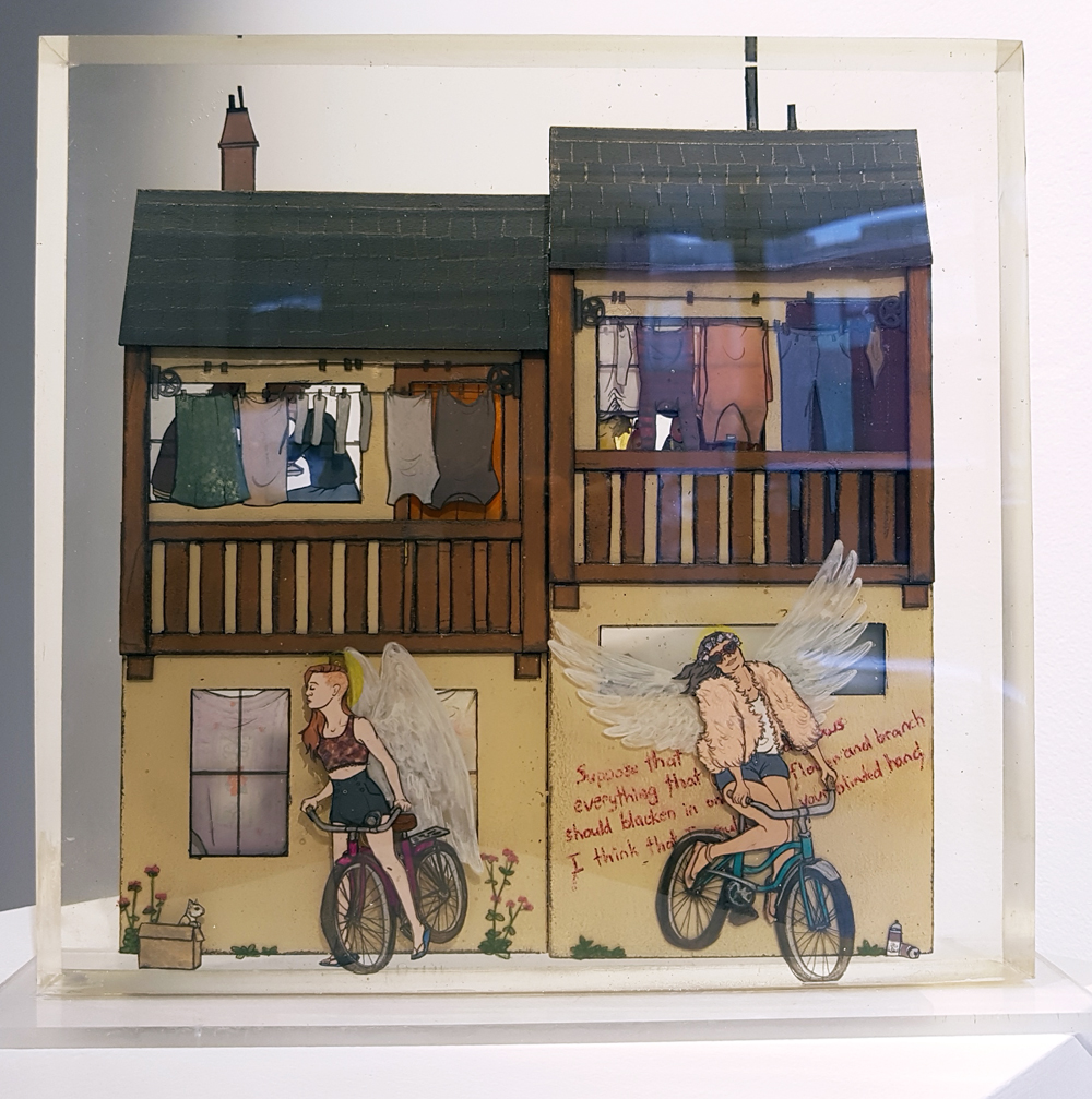 Jessica Korderas, Utopia 2, resin and mixed-media, sculpture, contemporary art, Vancouver, Elissa Cristall Gallery