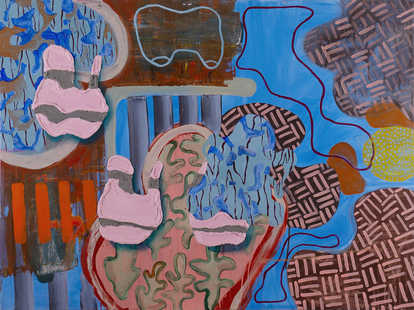 Wei Li, abstract painting, contemporary art, Vancouver, art gallery, Elissa Cristall Gallery