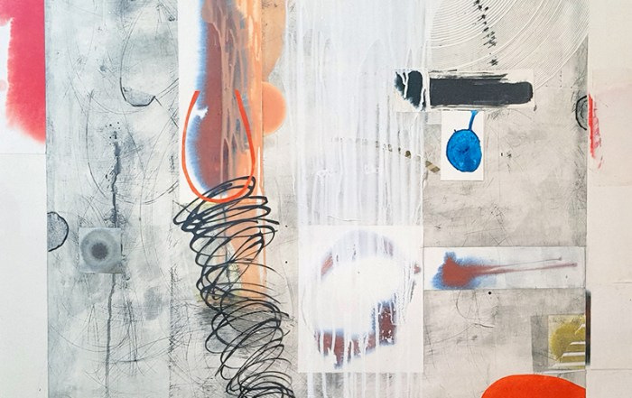 Camrose Ducote, abstraction, mixed media, collage, work on paper, contemporary art, yvr, vancouver art gallery, Elissa Cristall Gallery