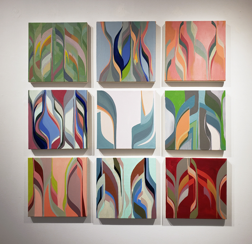 Amanda-Reeves-Installation-photo-abstract-painting-contemporary-art-modern-art-Elissa-Cristall-Gallery