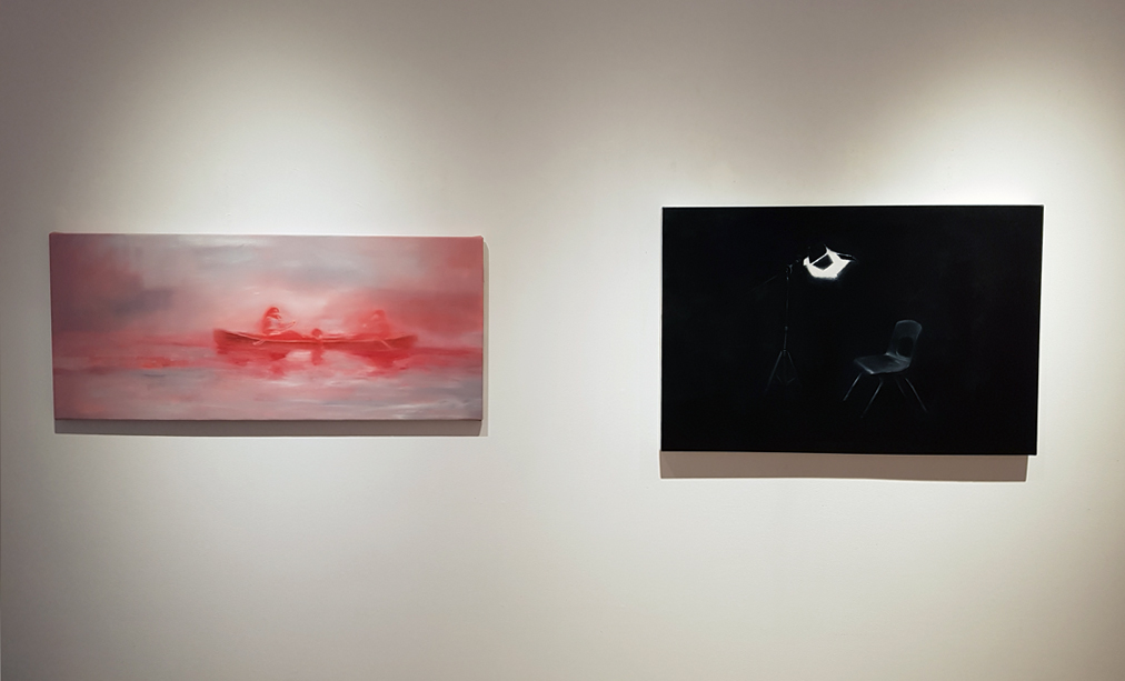 Jeroen Witvliet, Crossing and Accused paintings, Elissa Cristall Gallery, Contemporary Art, Vancouver, BC Canada