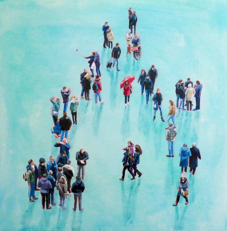 Sara Caracristi, figurative painting, urban scenes, Vancouver, Elissa Cristall Gallery
