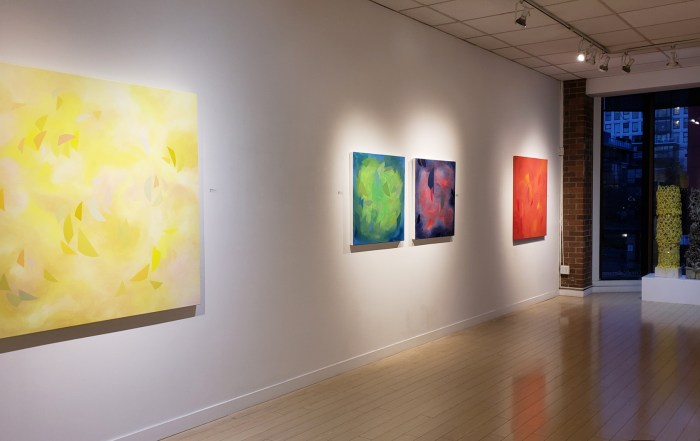 Contemporary art gallery Vancouver, modern art, color, abstract art, painting, yvr