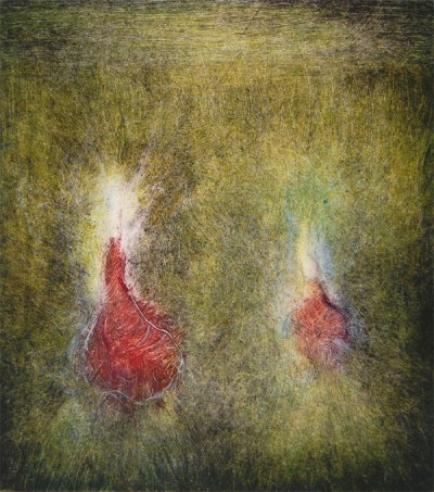 Marty Levenson, Monoprints, works on paper, contemporary art, Vancouver gallery, Elissa Cristall Gallery