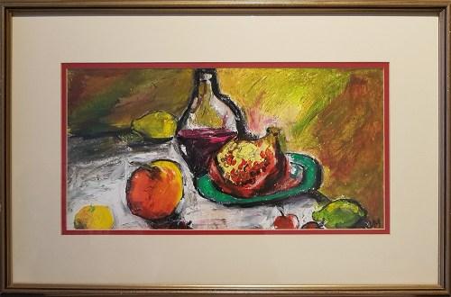 VIcky Marshall, Pomegranite, oil pastel