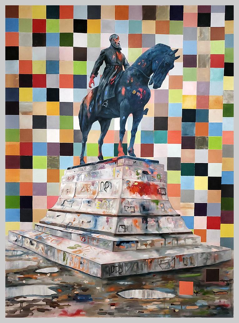 Jeroen-Witvliet-TheKing(koning)-frame-oil-on-canvas-250x180cm-ecg