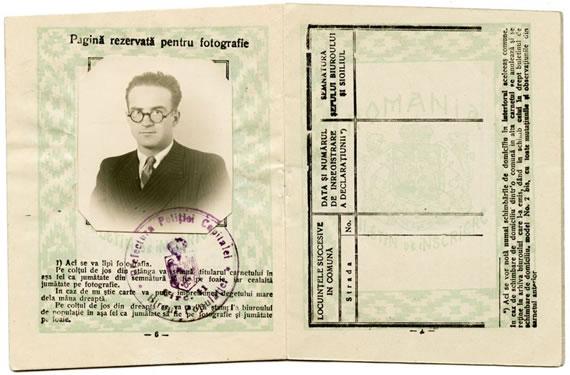 Document Eliade. Buletinul de înscriere la Biroul Populației, 1932