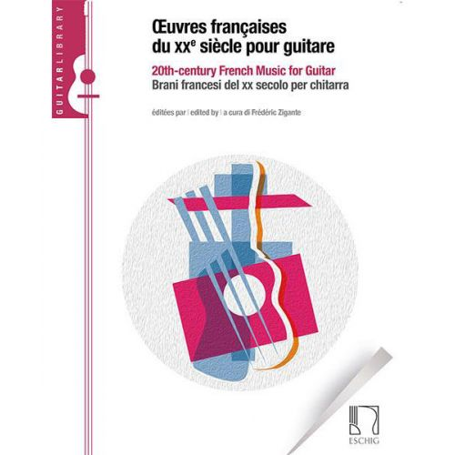 Œuvres françaises du XXème siècle pour guitare