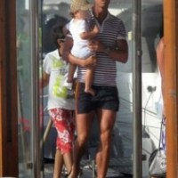Cristiano Ronaldo and Junior at Family Vacation in Algarve (27 June 2011)