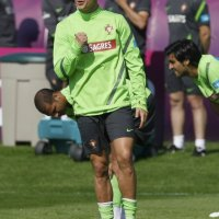 Euro 2012 Pictures : Cristiano Ronaldo Training With Portugal (11 June 2012)