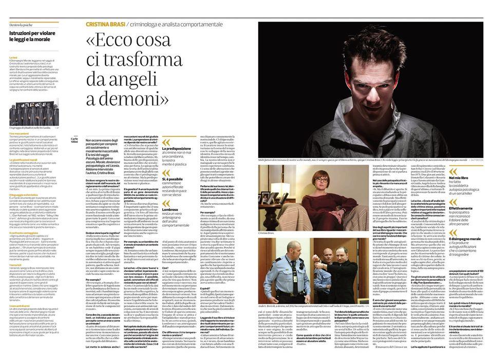 """La mia intervista sul """"Corriere del Ticino"""""""