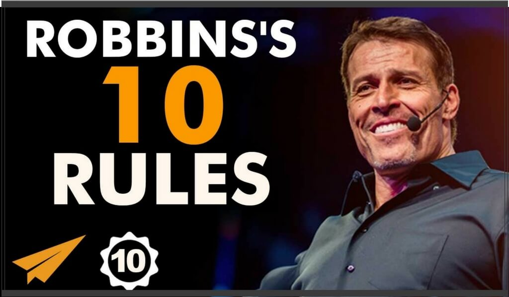 tony robbins top 10 claritate perseverent identitate credinte convingeri progres valoare viata mentalitate