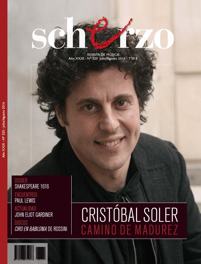 El Director Musical Cristóbal Soler Portada De Scherzo.