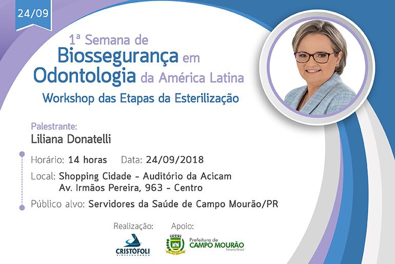 Workshop Etapas da esterilização Campo Mourão