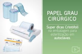 papel grau cirúrgico super dicas cristofoli na embalagem para esterilização