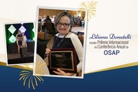 Liliana Donatelli recebe premio internacional