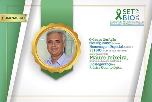 Destaque Biossegurança em Odontologia 2019 Homenagem Mauro Teixeira