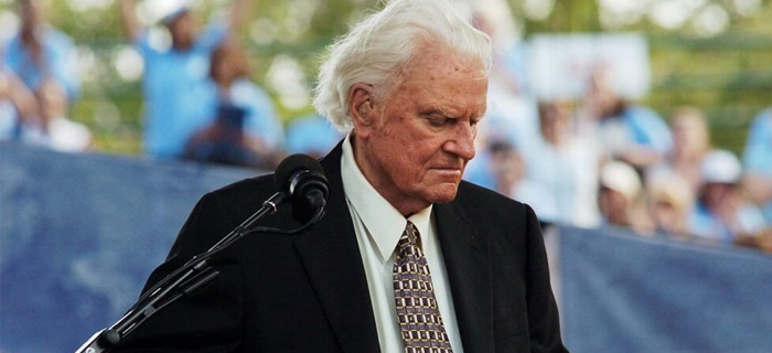 Muere el evangelista Billy Graham