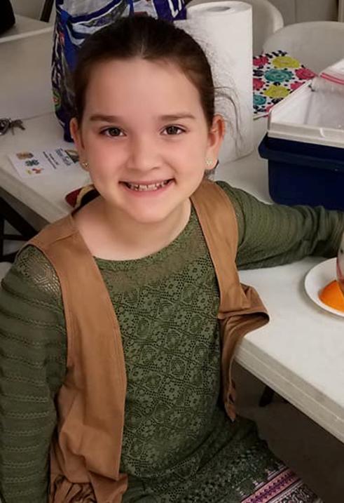 Megan Hill, de 9 años.