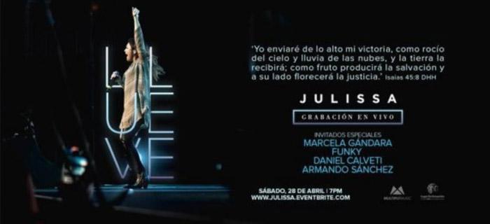 Julissa se prepara para la grabación de su álbum «Llueve»