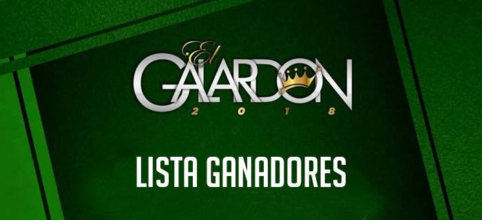 Lista de ganadores de Premios El Galardón 2018