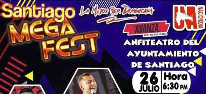 "1 Nación 1 Día presenta""SANTIAGO MEGA FEST"""
