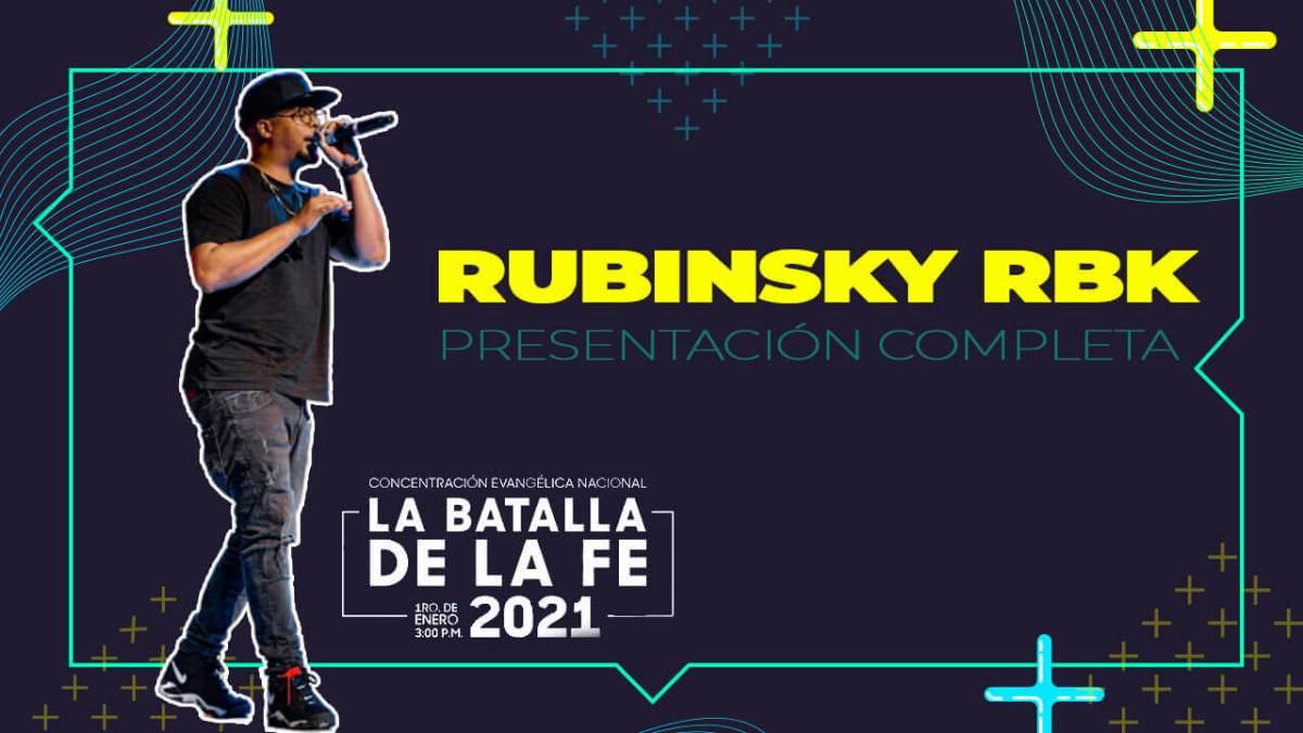 Presentación RUBINSKY RBK en LA BATALLA DE LA FE 2021