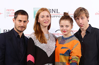 ROME, ITALY - OCTOBER 17:  Actor Clemens Schick, director Theresa von Eltz, actors Jella Haase and Benjamin Seikel  attend a photocall for 'Four Kings' during the 10th Rome Film Fest on October 17, 2015 in Rome, Italy.  (Photo by Vittorio Zunino Celotto/Getty Images) *** Local Caption *** Clemens Schick;Theresa von Eltz;Jella Haase;Benjamin Seikel