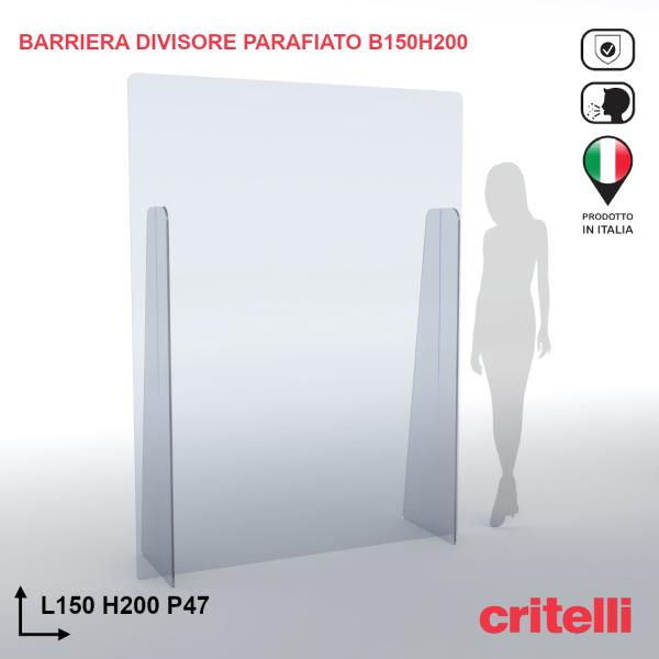 barriera parafiato divisorio BARDIV150H200XL