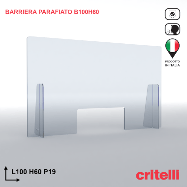 Barriera parafiato BAR100H60S3