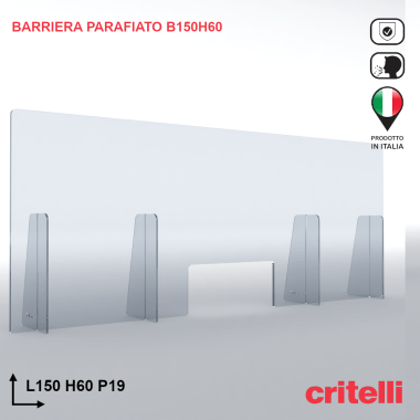 Barriera parafiato BAR150H60S3