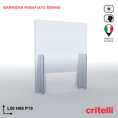 Barriera parafiato BAR50H60S3