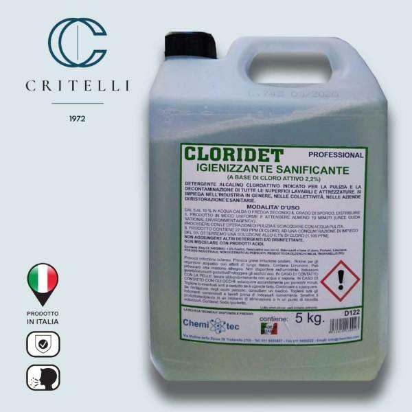 cloridet detergente igienizzante sanificante alcalino cloroattivo