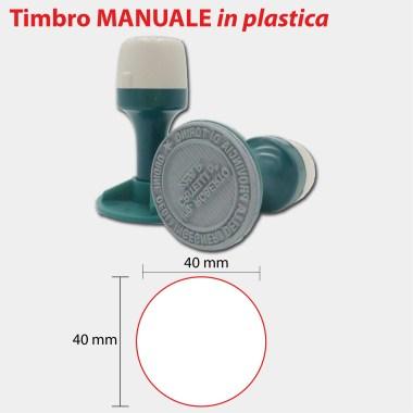 MANUALE TONDO PLASTICA 40x40