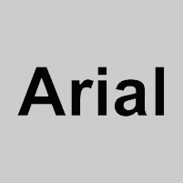 Carattere font arial