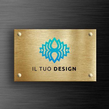 targa personalizzata in ottone a colori