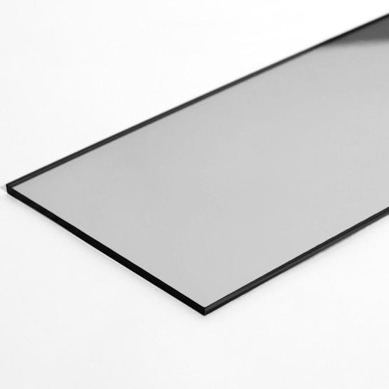 Abs argento lucido supporto nero