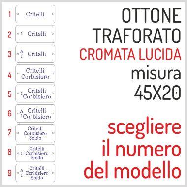 TARGHETTA CROMATA OTTONE 45X20 PAPINO