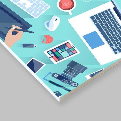 Cartello pannello pvc forex stampato colori 3mm