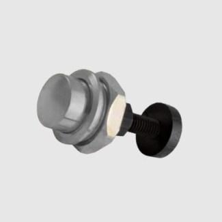 Pulsante pulsantiera citofono testa piatta cromo a spinta