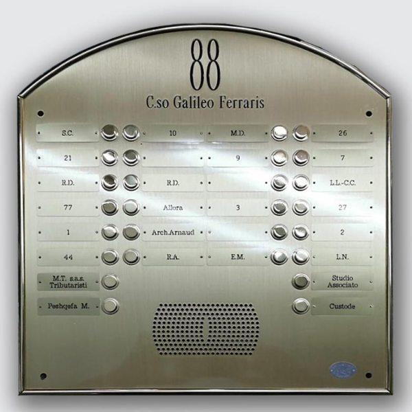 Ripristino pulsantiere citofono ottone