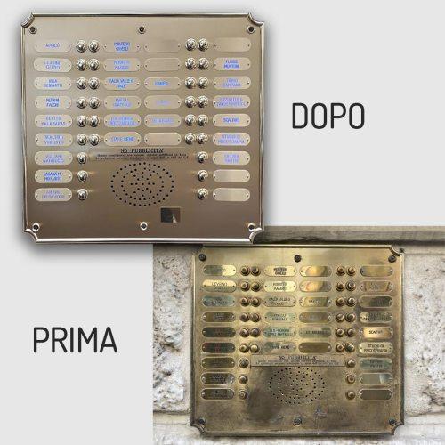 Ripristino pulsantiere ottone