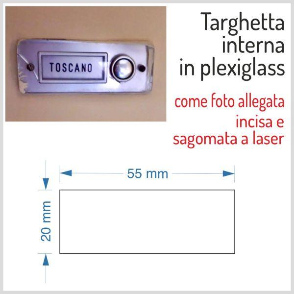 plexiglass argento