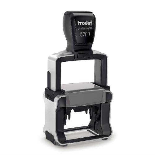 TRODAT PROFESSIONAL 5200 Timbro Autoinchiostrante Professionale Rettangolare 41×24 mm Testo a 5-6 Righe con Cartuccia Nera