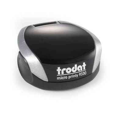 Timbro Autoinchiostrante Tascabile Trodat Micro Printy 9330 compreso di Impronta Laser in Gomma Rotonda D 30 mm silver1