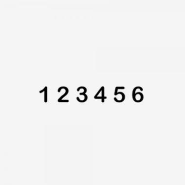 Timbro Autoinchiostrante JUSTRITE Numeratore SIN 1-6 6 colonne 4mm impronta